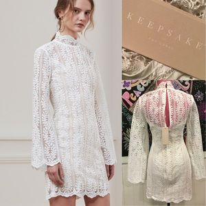 Nwts Keepsake uptown lace mini Dress SzS